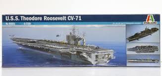 Italeri 1 720 Uss Theodore Roosevelt Cv 71 Plastic Models