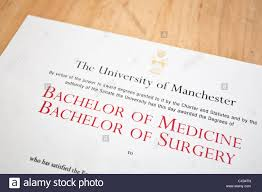Medical Degrees Medical Degree Certificate Stock Photo 50471477 Alamy