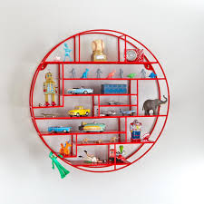 ... The Latest In Kids Furniture Textiles And Decor Round Raw Metal Wall  Shelf White Colored Wall ...