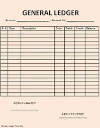Account Ledger Printable General Ledger Sheet Template Ledger Pgs General Ledger