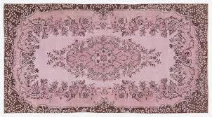 vintage turkish pink overdyed fl rug