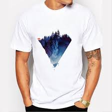 Us 7 9 39 Off Fashion Iceberg Print T Shirt Men Mountain Design T Shirts Casual Cool Mens Shirts Short Sleeve Trend Clothing In T Shirts From Mens