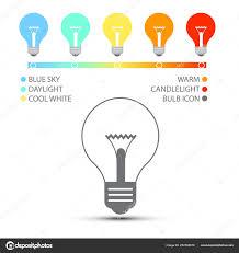 Candle Light Color Temperature Color Temperature Icons Bulbs Color Temperature Icons