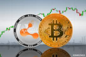 Bitcoin Btc And Bitconnect Bcc Coins On The Background