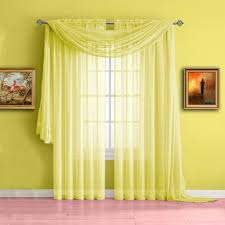 Warm Home Designs Yellow Window Scarf Valances, Sheer Yellow Curtains ...