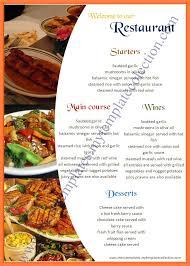 Word Restaurant Menu Templates 9 Free Cafe Menu Templates For Word Andrew Gunsberg