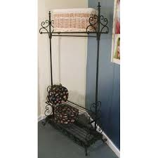 Coat And Boot Rack Ornate Metal Coat Rail Boot Rack 59