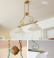 how to age a brass light fixture