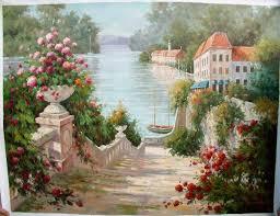 flowers oil painting summer garden