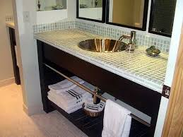 Bathroom Decor Vanity Glass Tile Counter Top Bathrooms Pinterest Gorgeous Bathroom Vanity Countertop Ideas