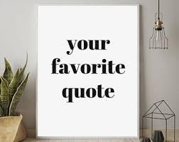 custom quote print custom print personalized print custom wall art printable custom wall art customized prints custom word art on personalized text wall art with custom word art etsy