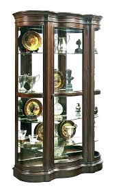 used china cabinet curio half round glass display stands furniture c