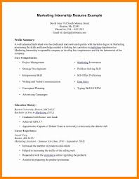 6 Marketing Internship Resume Samples New Hope Stream Wood