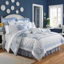 light blue ruffle bedding traditional bedroom with bedeck serenity bedding in pale blu on shabby chic