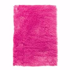 home decorators collection faux sheepskin hot pink 3 ft x 5