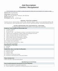 Resume Site Gorgeous 48 Cashier Description For Resume