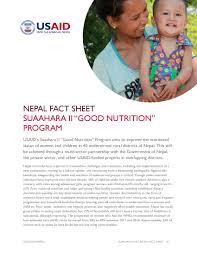 Suaahara Project Ii Good Nutrition Fact Sheet Nepal