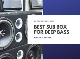 Loudest Subwoofer Box Design Best 9 Subwoofer Box Design For Deep Bass Reviews 2019