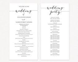 Ceremony Template Wedding Program Two Templates Ceremony Program Template Diy Wedding Wedding Program Printable Template Editable Program Template