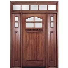 craftsman style front doorsShop Craftsman Style Front Entry Wood Doors  Exterior Wood Doors
