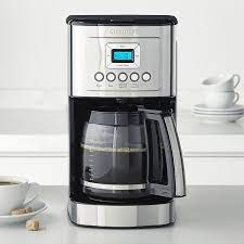Just like said earlier, pour water and vinegar solution into the coffee maker reservoir. Cuisinart Perfectemp 14 Cup Programmable Coffee Maker With Glass Carafe Williams Sonoma