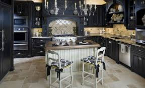 black cabinets kitchen for