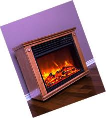 lifesmart large room infrared quartz fireplace in burnished oak