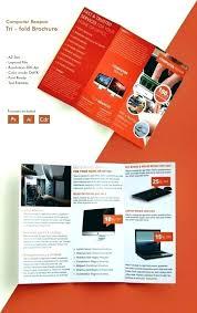 2 Folded Brochure Template 2 Fold Brochure Template