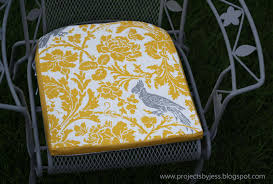 Furniture Ideas Orange And Birds Visual Art Cushion Patio Chairs