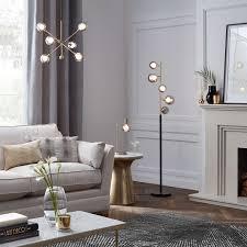 floor lighting for living room. BuyJohn Lewis Huxley 5 Light Floor Lamp, Smoke / Antique Brass Online At Johnlewis. Lighting For Living Room U