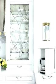 charming glass inserts for kitchen cabinets cabinet features beveled leaded front full size