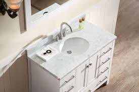 white single bathroom vanity. Ariel Cambridge 43\ White Single Bathroom Vanity
