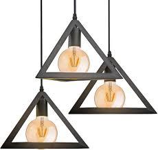 Bolcom V Tac Triangle Hanglamp Draadlamp 3 Lichts Zwart