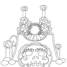 Free Printable Day Dead Coloring Pages Day Of The Dead Mask Coloring