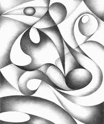 abstract drawing original abstract drawing black and white geometric freehand