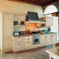 Traditional Kitchen Ash Solid Wood Lacquered Settecento Gd