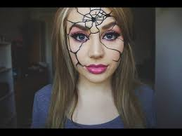 easy ed broken doll makeup