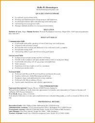 Resume Qualification Summary Awesome Professional Skills Resume Examples What To Write In Summary Of