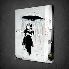 banksy umbrella girl canvas wall art pictures prints variety of sizes on banksy wall art prints with banksy archives canvas print art