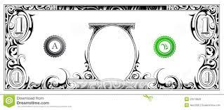 Money Bill Template Dollar Bill Stock Vector Illustration Of Graphic Artwork 23579828