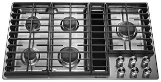 kitchenaid 36 gas downdraft cooktop stainless steel kcgd506gss