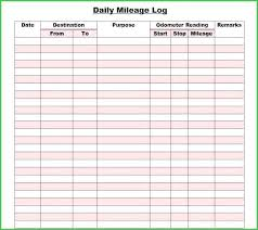 Free Printable Mileage Log For Taxes Mileage Log Template For Self Employed Printable Free Pdf