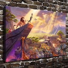 Lion King Bedroom Decorations Aliexpresscom Buy H1215 Thomas Kinkade The Lion King Hd Canvas