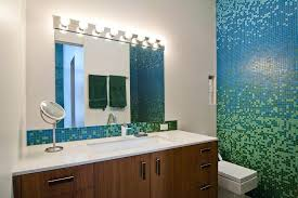 bathroom tile accents tile accent wall ideas bathroom contemporary with mosaic tile wall blue mosaic tile