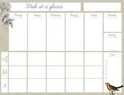 25+ best Week at a glance printable ideas on Pinterest | At a ...