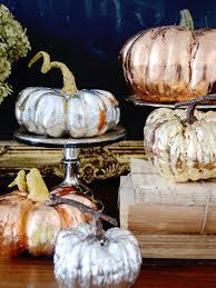 thanksgiving metallic pumpkin decorations