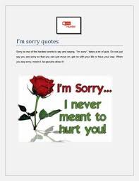 Im Sorry Quotes Interesting I'm Sorry Quotes By Quoteshunter Issuu