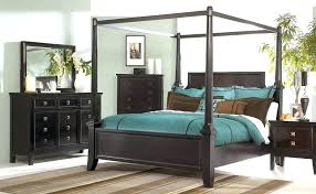 Queen Size Canopy Bed Frame Unique Set Metal Bedroom Sets Bronze ...