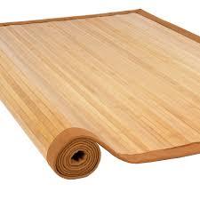 bamboo area rug carpet indoor 5u0027 x 8u0027 100 natural bamboo wood new