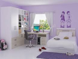 For Girls Bedrooms Design Ideas For Sweety Purple Girls Bedroom With Corner Space